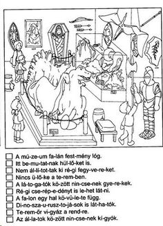NÉMA ÉRTŐ OLVASÁS FELADATLAPOK 1. OSZTÁLY - tanitoikincseim.lapunk.hu Learning Methods, Worksheets, Kindergarten, Language, Teaching, Education, Logos, Memes, School
