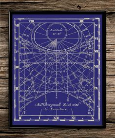 Vintage Scientific Sundial Illustration by UniquelyGiftedArt