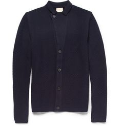 WooyoungmiPatterned Knitted Wool Cardigan