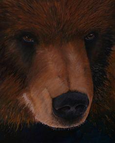 Acrylic brown bear