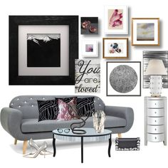 You Are Loved and The Grey Sofa by kimberlyd-2 on Polyvore featuring interior, interiors, interior design, casa, home decor, interior decorating, Kelly Wearstler, Eleanor Long, Wendover Art Group and Pier 1 Imports