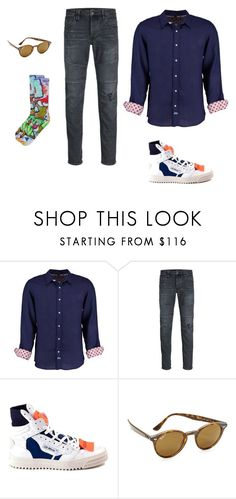 """""""Deloreans"""" by cargo-92 on Polyvore featuring Tobias, Jack & Jones, Off-White, Ray-Ban, men's fashion and menswear"""