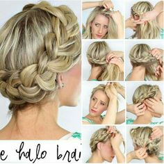 Spring has almost sprung!! Kick off the season with a simple braid halo to go sith your spring style! #SHEARPERFECTION #LIKECOMMENTSHARE #BRAIDHALO #DIY