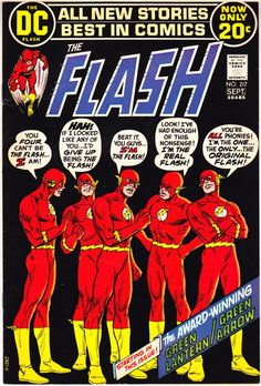 The Flash Superhero 217 comics, Bronze Age books. Flash Comic Book, Dc Comic Books, Vintage Comic Books, Vintage Comics, Comic Book Covers, Comic Art, Green Lantern Green Arrow, Flash Superhero, Flash Comics