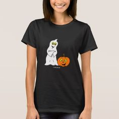 #Little Jack & Boo Women's HALLOWEEN T-Shirt - #Halloween happy halloween #festival #party #holiday