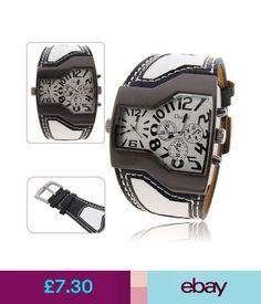 Wristwatches Oulm Fashion Men Boys Big Dial Multi Time Zone Casual Gift Wristwatch #ebay #Fashion