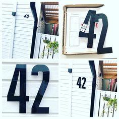 """Ulrika på Instagram: """"Så mycket tydligare och snyggare! Fina akrylsiffror från @fasaddekor.se #hemmafix #kansjälv #fasaddekor"""""""