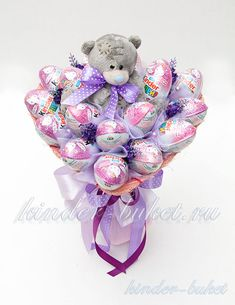 Bouquet Cadeau, Gift Bouquet, Candy Bouquet, Unicorn Themed Birthday Party, Diy Birthday, Birthday Gifts, Yarn Crafts For Kids, Diy Crafts For Gifts, Regalos Mujer Ideas