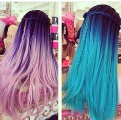 blue hair, dyed hair, hair, hairstyles, pink hair - image #3606416 ...