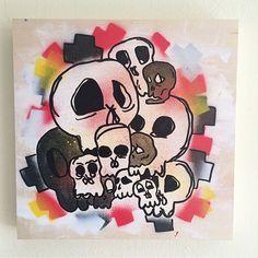 """Cool @christo.art piece.  - #artbotic #artist #art # #skulls"" Photo taken by @artbotic on Instagram, pinned via the InstaPin iOS App! http://www.instapinapp.com (06/25/2015)"