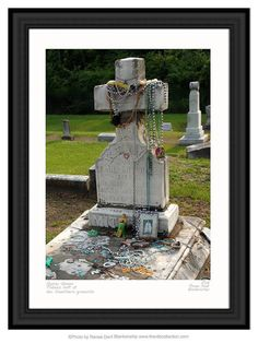 Gypsy Queen Grave Photo, Southern Gothic, by Renee Dent Blankenship of theRDBcollection, available in several sizes