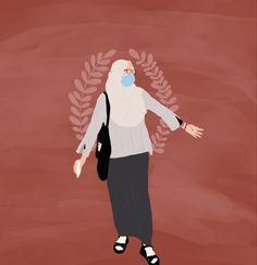 People Illustration, Portrait Illustration, Girl Cartoon, Cartoon Art, Arabic Characters, Self Portrait Drawing, Hijab Drawing, Hijab Cartoon, Best Friend Quotes