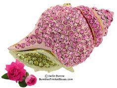 Trinket Box: Pink Conch Shell - this website has cute trinket boxes for your sparklies