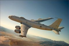 The Boeing E-6B Mercury: an airborne command post and communications relay based on the Boeing 707-320.