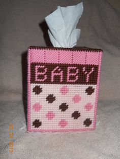 Baby Girl Tissue Box Cover by SpyderCrafts on Etsy, $10.00