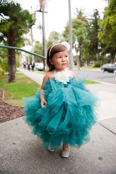 Fluffy Flower Girl - I'll bet she was in heaven!
