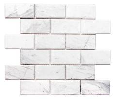 Love our gorgeous marble! Marble Mosaic, Mosaic Tiles, Mosaics, Beautiful Textures, Bathroom Wall, Santorini, Backsplash, Natural Stones, Tile Floor