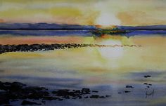 Sunrise On The Lake Painting by Sam Sidders - Sunrise On The Lake Fine Art Prints and Posters for Sale