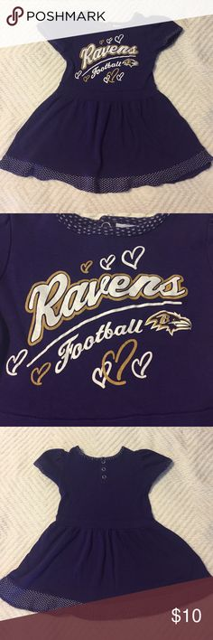 🏈Girls Baltimore Ravens football NFL dress 2T🏈 🏈Girls Baltimore Ravens football NFL dress. Very good condition. 2T. 100% cotton. No trades or holds. 🏈 NFL Team apparel Dresses Casual