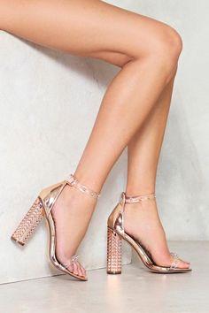 ba6f9dbc2c672e Nasty Gal nastygal Who Do You Love Studded Heel Ankle Strap Flats
