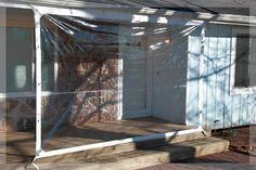 X Clear Tarp 24 MIL Clear Vinyl Patio Enclosure Fire Retardant  USA Made In  Home U0026 Garden, Yard, Garden U0026 Outdoor Living, Garden Structures U0026 Shade, ...