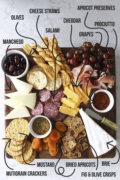 Fun With a Wine & Cheese Party – Drinks Paradise Snacks Für Party, Appetizers For Party, Appetizer Recipes, Cheese Recipes, Charcuterie And Cheese Board, Charcuterie Platter, Cheese Boards, Antipasto Platter, Cheese Board Display