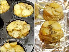 Gekräuterte Annakartoffeln aus der Muffinform