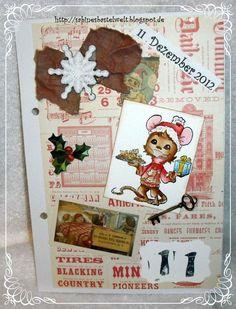 ♥Sabinesbastelwelt♥ December Daily, Gingerbread Cookies, Desserts, Food, December, Gingerbread Cupcakes, Tailgate Desserts, Deserts, Christmas Calendar