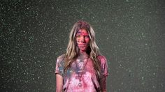 Girls throwing coloured powder at each other works well in this video  Colourfornia by Nick Thompson. Directed By: Nick Thompson