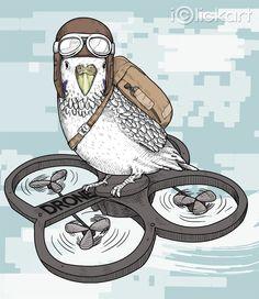 #drone #bird #hobby #illustration #iclickart