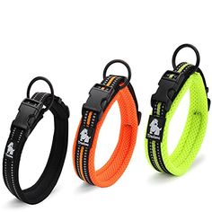 Mesh Padded Nylon Dog Collar Adjustable 3M Reflective Pet Collar For Outdoor Adventure -- Find out more about the great product at the image link.(This is an Amazon affiliate link and I receive a commission for the sales) #DogCarriers