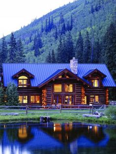 Beautiful cabin in the Colorado mountains.