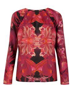 3b18ddb98a19 Jungle orchid top - Maroon