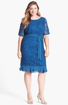 #Adrianna Papell          #Dresses                  #Adrianna #Papell #Ruffled #Lace #Sheath #Dress #(Plus #Size)                 Adrianna Papell Ruffled Hem Lace Sheath Dress (Plus Size)                                               http://www.snaproduct.com/product.aspx?PID=5116967