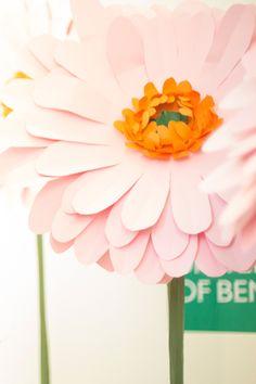 Χάρτινες κατασκευές για τη διακόσμηση του ανοιξιάτικου event της Benetton. Δείτε περισσότερα έργα μας στο http://www.artease.gr/interior-design/emporikoi-xoroi/