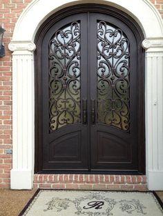 Tuscan design – Mediterranean Home Decor French Doors, Windows And Doors, House Doors, Front Door, Wrought Iron Front Door, Tuscan Design, Iron Entry Doors, Metal Door, Doors