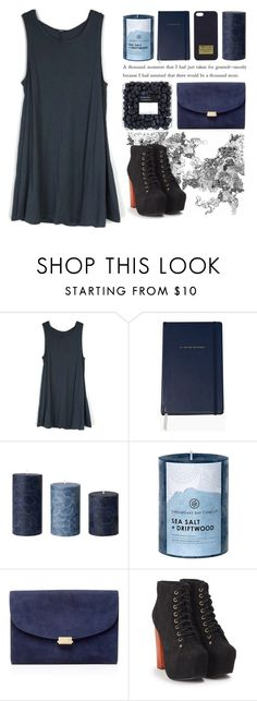 """""""LAMENT // blvcsvnd"""" by nochillnatalie on Polyvore featuring MICHAEL Michael Kors, Kate Spade, Chesapeake Bay Candle, Mansur Gavriel, Jeffrey Campbell, dress and navy"""