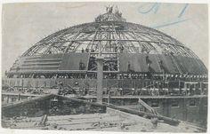 Bouw van de koepelgevangenis 27 aug.1901 De bouw is uitgevoerd door de firma De Vries en Robbé en Co uit Gorinchem.