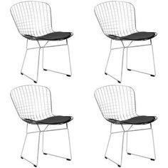 Poly and Bark Morph Side Chair in Black (Set of 4)