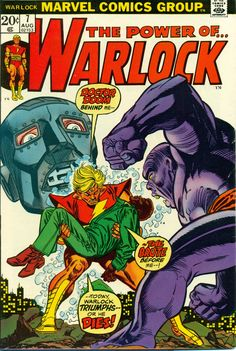 """Warlock vol.1 # 7, """"Doom: At the Earth's Core!"""" (August, 1973). Cover by Gil Kane & Frank Giacoia."""