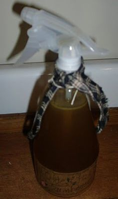 Homemade clove & vanilla room spray...CLOVE AND VANILLA AIR FRESHENER 2 cups distilled or rain water 2 cups of white vinegar a big handful of whole cloves 1/4 cup of vanilla....