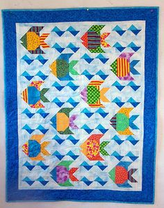 Little Fish Baby quilt. WOW this would be my dream to make this someday!