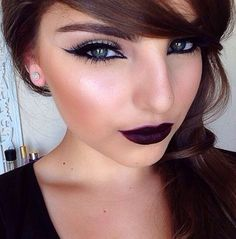 nice look! maybe a little less on the eyeliner