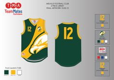 Artwork for the Melville JFC aussie rules jerseys
