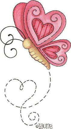 Cute butterfly for applique and embroidery on mug rug Applique Patterns, Applique Designs, Embroidery Designs, Applique Ideas, Art Patterns, Doodle Art, Heart Doodle, Rock Art, Painted Rocks