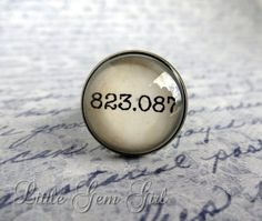 Sci Fi Fantasy Detective Horror Book Jewelry - Book Quote Antique Bronze Ring - 823.087 Geekery Book Nerd Dewey Decimal Library Book Ring  A...