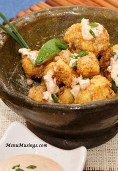 Spicy Fried Cauliflower Bites - if you are looking for a way to wake up your cauliflower, and try something different, this might just do the trick!