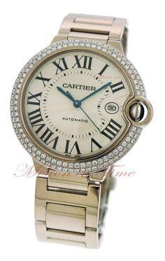 Cartier Ballon Bleu Large 18kt White Gold Diamond 42.1mm Click to find out more -  http://menswomenswatches.com/cartier-ballon-bleu-large-18kt-white-gold-diamond-42-1mm/