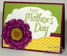 Stampin' Up! Blended Bloom and My Mother - Mother's Day Card - Christy Fulk, Stampin' Up! Demo
