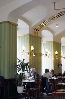 """Cafe Museum, Vienna by Adolf Loos – Heinrich Kulka, Loos' pupil, described it as """"the starting point for all modern interior design. Cafe Interior, Interior Styling, Contemporary Architecture, Interior Architecture, Minneapolis Hotels, Museum Cafe, Restaurants, Century Hotel, Vienna Secession"""